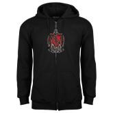 Black Fleece Full Zip Hood-Coat of Arms