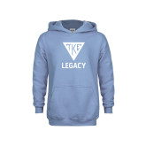 Youth Light Blue Fleece Hoodie-Legacy
