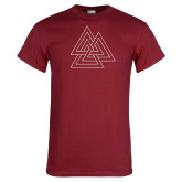 Cardinal T Shirt-Interlocking Triangles