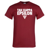 Cardinal T Shirt-Tau Kappa Epsilon Stacked w/ Houseplate