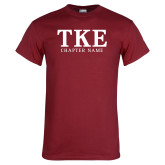 Cardinal T Shirt-TKE Chapter Name