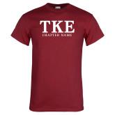 Cardinal T Shirt-TKE Chapter Name