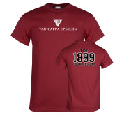 Cardinal T Shirt-House Plate Tau Kappa Epsilon