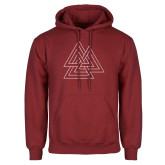 Cardinal Fleece Hood-Interlocking Triangles