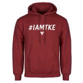 Cardinal Fleece Hoodie-#IAMTKE w/ Houseplate