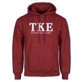 Cardinal Fleece Hood-TKE Chapter Name
