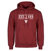 Cardinal Fleece Hoodie-Classic Style Founders Day Stacked