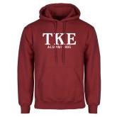 Cardinal Fleece Hoodie-TKE Alumni Year