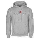 Grey Fleece Hoodie-House Plate Tau Kappa Epsilon