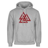 Grey Fleece Hood-Interlocking Triangles