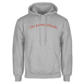 Grey Fleece Hoodie-Arched Tau Kappa Epsilon