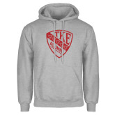 Grey Fleece Hoodie-Alumni Shield