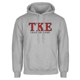 Grey Fleece Hoodie-TKE Chapter Name