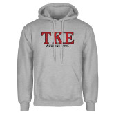 Grey Fleece Hoodie-TKE Alumni Year