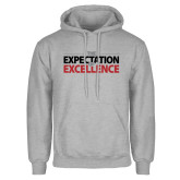 Grey Fleece Hoodie-The Expectation of Excellence