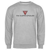 Grey Fleece Crew-House Plate Tau Kappa Epsilon