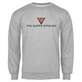 Grey Fleece Crew-House Plate Tau Kappa Epsilon