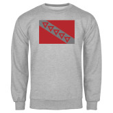Grey Fleece Crew-Flag