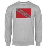 Grey Fleece Crew-Flag