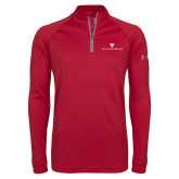 Under Armour Cardinal Tech 1/4 Zip Performance Shirt-House Plate Tau Kappa Epsilon
