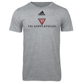 Adidas Sport Grey Logo T Shirt-House Plate Tau Kappa Epsilon