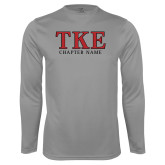Performance Steel Longsleeve Shirt-TKE Chapter Name