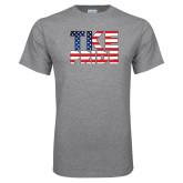 Grey T Shirt-TKE Pride - USA Flag