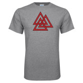Grey T Shirt-Interlocking Triangles