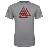 Sport Grey T Shirt-Interlocking Triangles