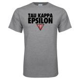 Sport Grey T Shirt-Tau Kappa Epsilon Stacked w/ Houseplate