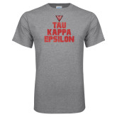 Sport Grey T Shirt-Block Text Gradient Design