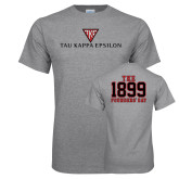 Grey T Shirt-House Plate Tau Kappa Epsilon
