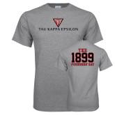 Sport Grey T Shirt-House Plate Tau Kappa Epsilon