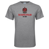 Grey T Shirt-Coat of Arms Established Year Stacked