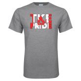 Grey T Shirt-TKE Pride - Canada Flag