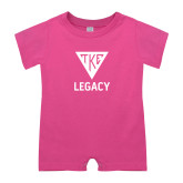 Bubble Gum Pink Infant Romper-Legacy
