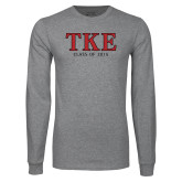 Grey Long Sleeve T Shirt-TKE Class Of