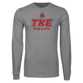 Grey Long Sleeve T Shirt-TKE 4 Life