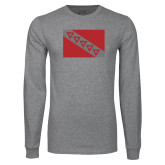 Grey Long Sleeve T Shirt-Flag