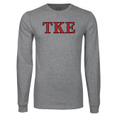 Grey Long Sleeve T Shirt-TKE