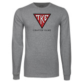 Grey Long Sleeve T Shirt-Houseplate - Chapter Name