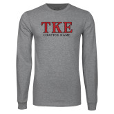Grey Long Sleeve T Shirt-TKE Chapter Name