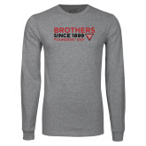 Grey Long Sleeve T Shirt-Brothers Since 1899