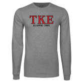 Grey Long Sleeve T Shirt-TKE Alumni Year