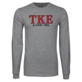 Grey Long Sleeve T Shirt-TKE Alumni Year