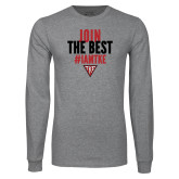 Grey Long Sleeve T Shirt-Join the Best