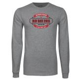 Grey Long Sleeve T Shirt-Bid Day - Chapter Name