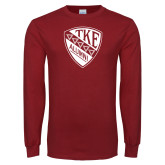 Cardinal Long Sleeve T Shirt-Alumni Shield