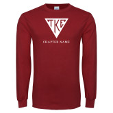 Cardinal Long Sleeve T Shirt-Houseplate - Chapter Name