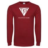 Cardinal Long Sleeve T Shirt-Houseplate - Chapter Name